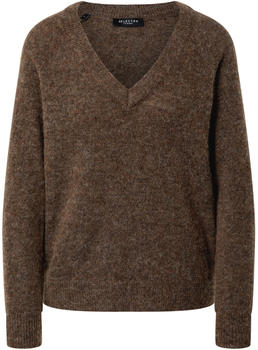 Selected V-Neck Wool Blend Jumper (16075829) dachshund