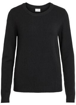Vila Viril O-neck L/s Knit Top - Noos (14054177) black
