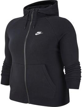 Nike Full Zip Hoodie Sportswear Essential (Plus Size) black/white