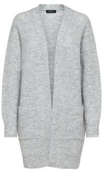 Selected Slflulu Ls Knit Long Cardigan B Noos (16074480) light grey melange