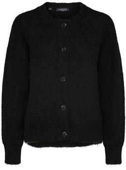 Selected Slflulu Ls Knit Short Cardigan B Noos (16074481) black