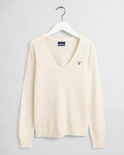 GANT Superfeiner Lambswool Sweater (4800502-130) cream