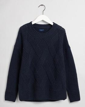gant-rundhalspullover-mit-grafik-zopfmuster-4803099-433-evening-blue