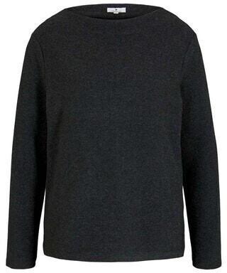 Tom Tailor Pullover (1027080) grey herringbone fabric
