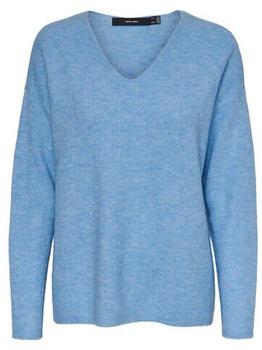 Vero Moda Vmcrewlefile Ls V-neck Blouse Noos (10233357) placid blue