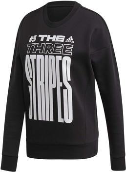 Adidas The Three Stripes Sweatshirt Women black/white