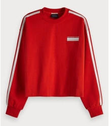 Scotch & Soda Cropped Sweatshirt (153376) rescue red
