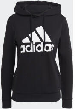 Adidas Essentials Relaxed Logo Hoodie black/white (GM5514)