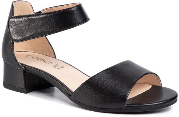 Caprice Ladies Sandals (28212-24) black nappa