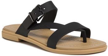 Crocs Tulum Toe Post black/tan