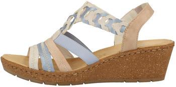Rieker Sandals blue/white/rose/beige (V1975-60)