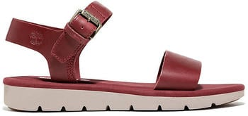 Timberland Lottie Lou Ankle Strap Sandal burgundy red