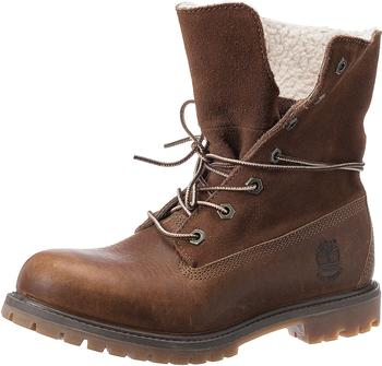 Timberland Women's Authentics Waterproof Fold-Down Boot (8328R) tobacco-forty