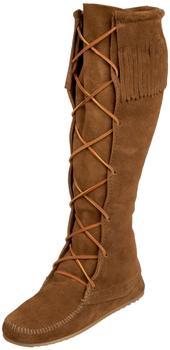 Minnetonka Front Lace dusty brown