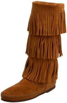 Minnetonka Front Lace brown