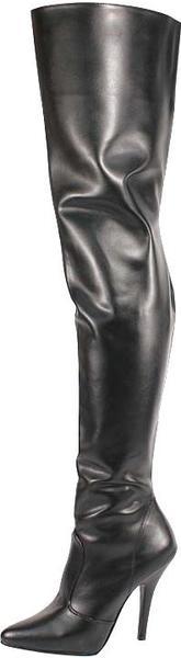 Pleaser Seduce (3010) black leather