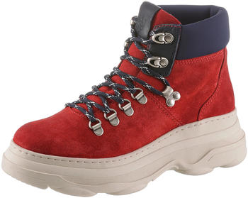 Marc O'Polo Lace-up boot in soft suede (90815336301315) red