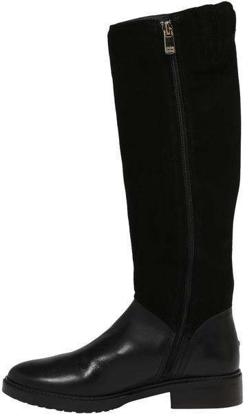 Tommy Hilfiger Essential Long Suede Boots black