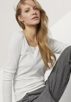 hessnatur Shirt aus Bio-Baumwolle weiß (43342-09)