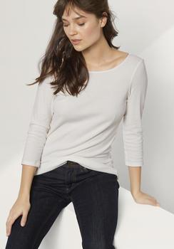 hessnatur Shirt aus Bio-Baumwolle weiß (46239-09)