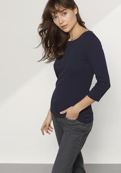 hessnatur Shirt aus Bio-Baumwolle blau (46239-17)