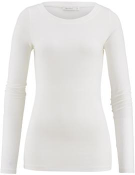 hessnatur Shirt aus Modal mit Schurwolle und Elasthan weiß (47438-03)