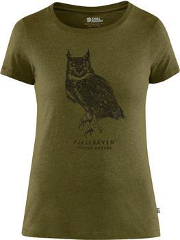 Fjällräven Owl Print T-Shirt W green