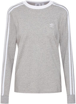 Adidas Women 3-Stripes Longsleeve medium grey heather (DV2591)