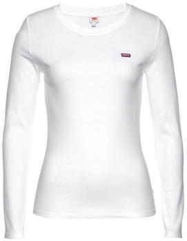 Levi's Long Sleeve Baby Tee white