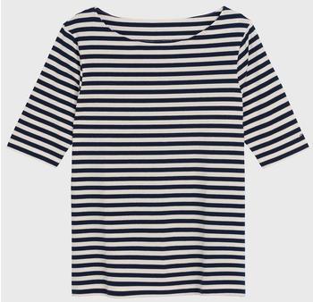 GANT Boatneck Striped Top evening blue (4205402-433)