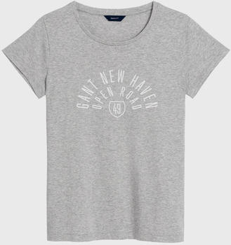GANT Mixed Graphics Short Sleeve T-Shirt light grey melange (4200419-94)