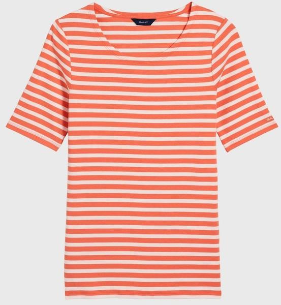 GANT Rib T-Shirt mit längerem Arm coral orange (4203432-859)