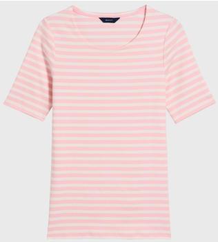 GANT Rib T-Shirt mit längerem Arm california pink (4203432-637)