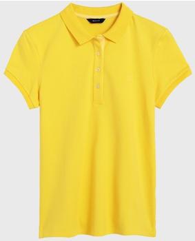 GANT Kurzarm Kontrastkragen Piqué Polo lemon zest (401250-720)