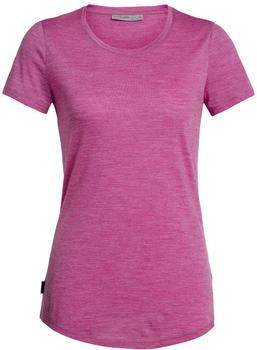 Icebreaker Women's Cool-Lite Sphere Short Sleeve Low Crewe amore pink