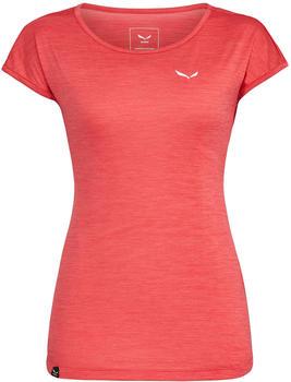 salewa-puez-melange-dryton-t-shirt-rouge-red-melange