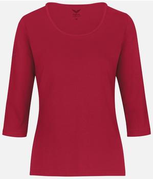 Trigema 3/4 Arm Shirt aus Biobaumwolle (39505) C2C rubin