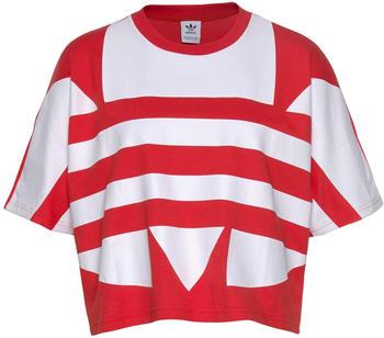 Adidas Large Logo T-Shirt lush red/white