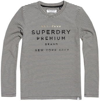 Superdry Dunne Stripe LS Graphic Top black (W6000004A)