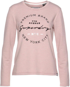 Superdry Dunne Stripe LS Graphic Top pink (W6000004A)