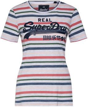 Superdry Vintage Logo Stripe Entry ice marl stripe (W1000052A)