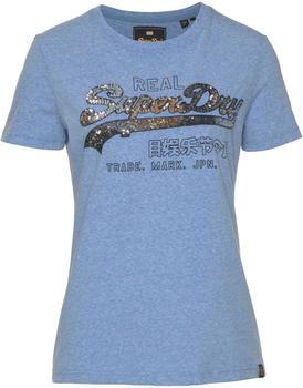 Superdry Vintage Logo Carnival Sequin Entry Tee blue (G10123ST)