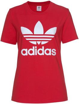Adidas Originals Trefoil T-Shirt Damen lush red/white (FM3302)