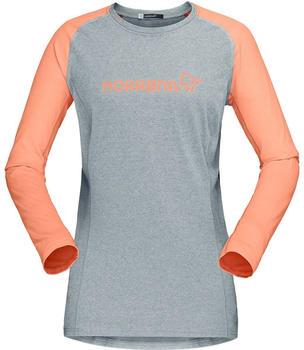 norrna-fjora-equaliser-lightweight-long-sleeve-women-drizzle-flamingo