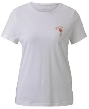 Tom Tailor Printed Shirt whisper white (1019453)