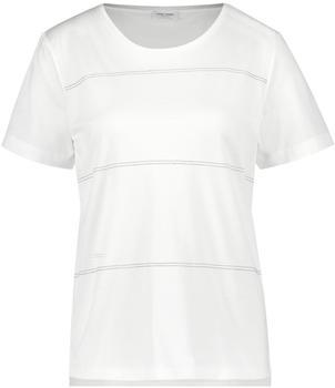 Gerry Weber 1/2 Arm Shirt mit Glitzersrteifen white (1-370252-35052-99700)