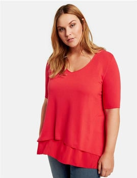 Samoon Ausgestelltes Double-Layer-Shirt lava red (14-471400-29141-6110)