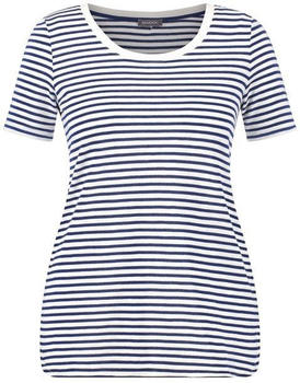 Samoon Shirt mit Ringel-Dessin space blue/offwhite ringel (14-471415-29180-8203)
