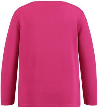 Samoon langarmshirt mit Ripp-Struktur pink (14-471017-26603-3060)