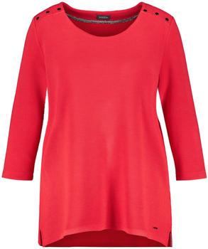 Samoon 3/4-Arm Shirt aus Struktur-Qualität lava red (14-471051-28015-6110)